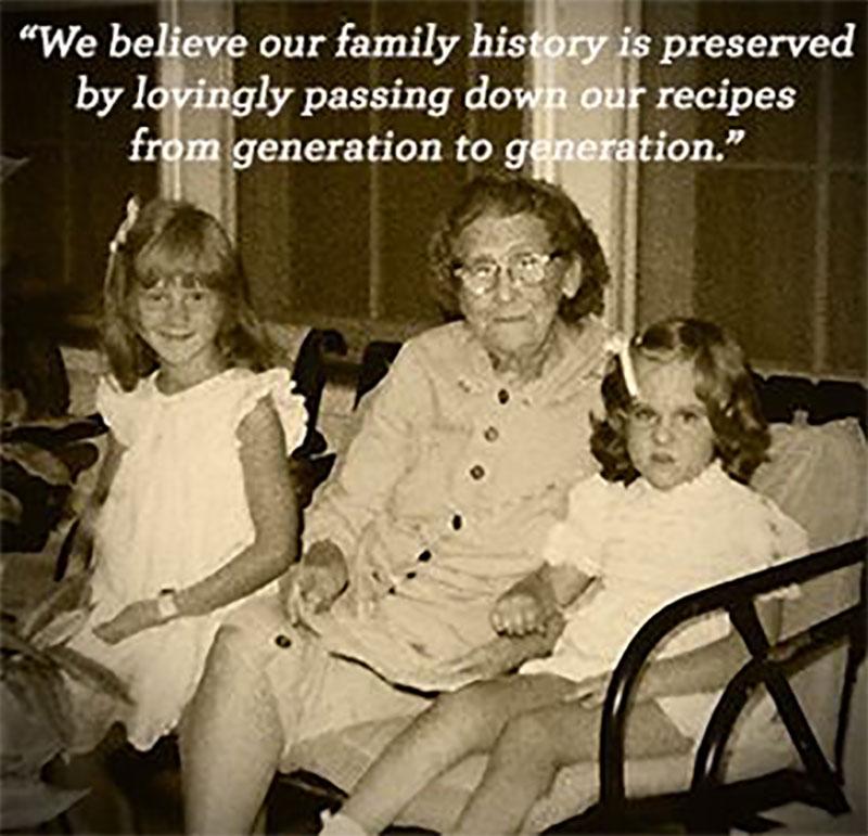 Sepia Grandma Girls